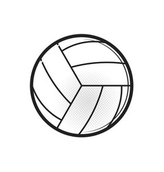 volleyball ball sports activity play competition vector image