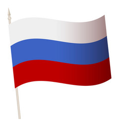 waving flag on a flagpole the national vector image