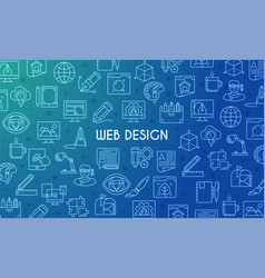 web design banner vector image