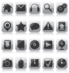 Web glass icons vector image