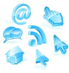 web symbols vector image