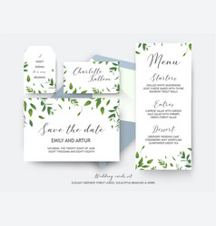 Wedding save the date place card label cards vector