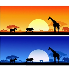 wildlife background vector image