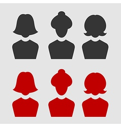 woman business avatar set vector image vector image