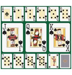 Spade blackjack suit large figures vector image vector image