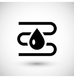 Water heating system icon vector image