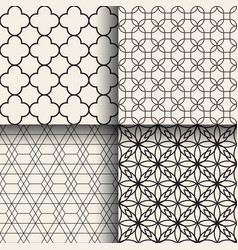 abstract geometric seamless patterns vector image vector image