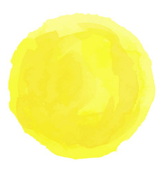 Bright yellow watercolor painted stain vector