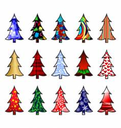 fir trees vector image vector image