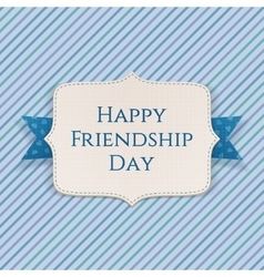 Happy friendship day realistic festive banner vector