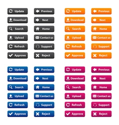 Rectangular web buttons vector image
