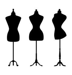 Vintage mannequins vector image