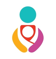 Colofrul Babywearing Symbol With Parent vector image