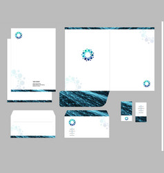 corporate identity template design visual vector image