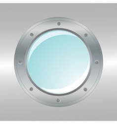 vector realistic metallic porthole vector image vector image
