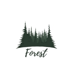 Forest logo isolated on white background vector image vector image