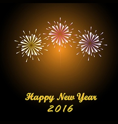 Happy new year firework 2016 vector image