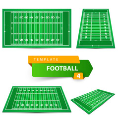 american football four items template vector image