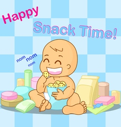 Baby snack time vector