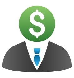 Banker Gradient Icon vector