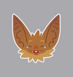 bat emotional head of bat vector image