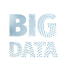 big data conceptual inscription from a blue dots vector image