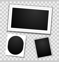blank photo frames template mockup with transparen vector image