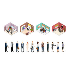 Business training or coaching isometric view vector