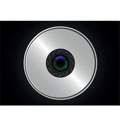 Camera lens shutter vector