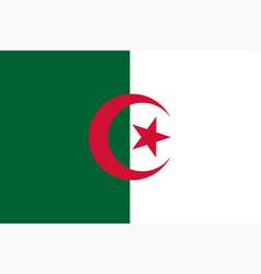colored flag of algeria vector image