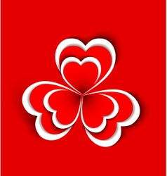 concept flower from paper hearts shape vector image