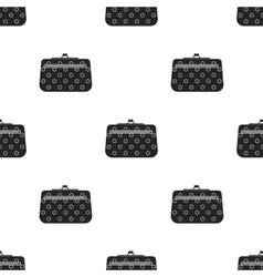 Cosmetic bag icon in black style isolated on white vector