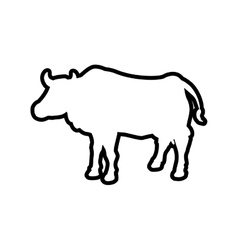 Cow animal farm pet character icon graphic vector