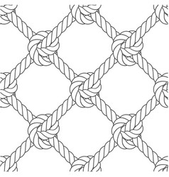 diagonal rope mesh - knots and rope seamless vector image