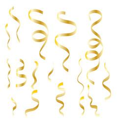 Falling shiny golden confetti vector