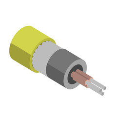 fiber cable icon isometric icon vector image