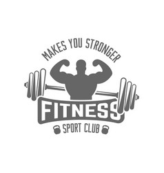 Fitness sport club isolated black emblem vector