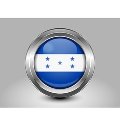 Flag of Honduras Metal and Glass Round Icon vector