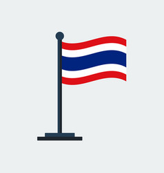 Flag of thailandflag stand vector