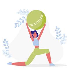 Flexibility exercise workout vector
