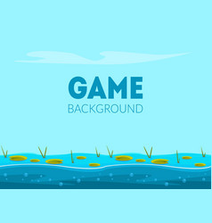 Game background banner template natural landscape vector