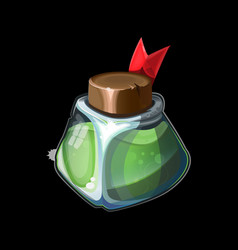Game icon with magic bottle vector