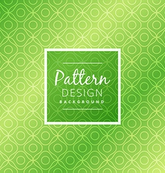 Green abstract pattern design vector
