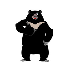 himalayan bear thumbs up and winks cheerful wild vector image