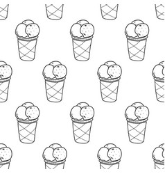 Ice cream easy pattern linear-03 vector
