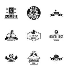 Indulge logo set simple style vector