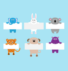 Jaguar cat elephant rabbit koala dog hippo vector