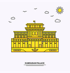 Kumsusan palace monument poster template world vector