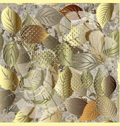 leafy modern grunge 3d seamless pattern vector image