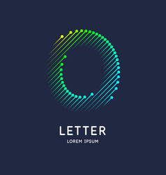 Letter o latin alphabet display vector